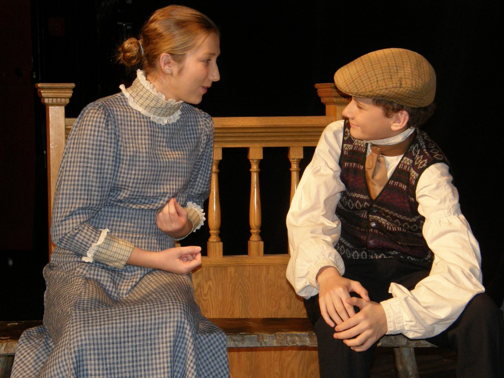 Young Scrooge and Sister Fran