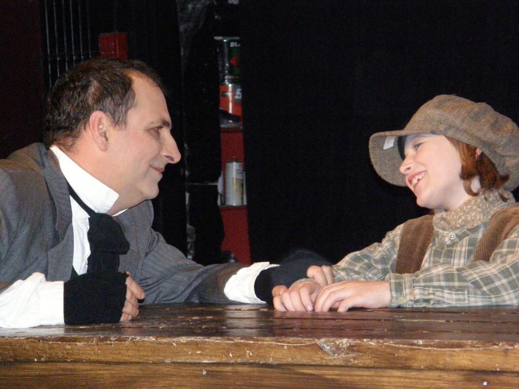 Bob Cratchet and Tiny Tim